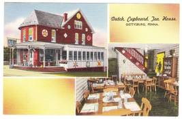 Vintage Linen Postcard Dutch Cupboard TeaHouse Gettysburg PA - $4.95