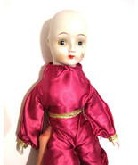 Creepy Porcelain head Clown Harlequin Doll Vintage Collectible Doll from... - $34.64