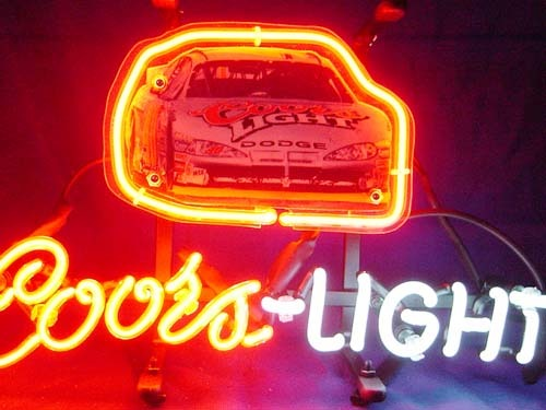 If017 coors light nascar  40 sterlin marlin bar neon light sign 13   x 9