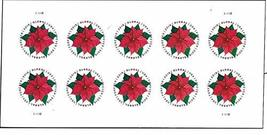 Global Poinsettia 1 Sheet of 10 International First Class Forever Postag... - $19.40