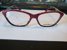 NEW Emporio Armani EA3040 5266 Eyeglasses Frames - Fuchsia and Havana PERFECT - $46.43