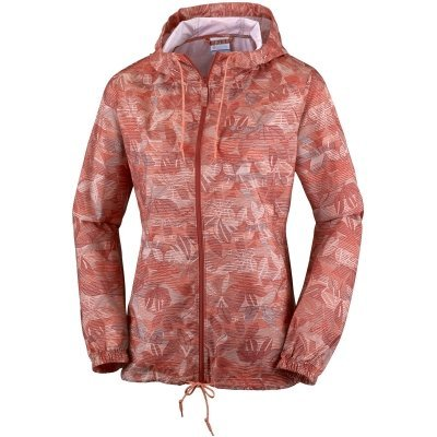 Columbia Women's Flash Forward Printed Windbreaker, Lychee Flora Lines, Medium