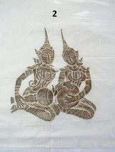 Original Mid Century Thai Temple Rubbings of Musicians in Black and Brown  - $66.25