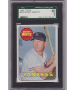 Mickey Mantle 1969 Topps #500 Baseball Card SGC 40 VG 3 - $129.00