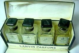 Lanvin Perfumes Vintage Mini Set of 4  in Original Box - $45.00