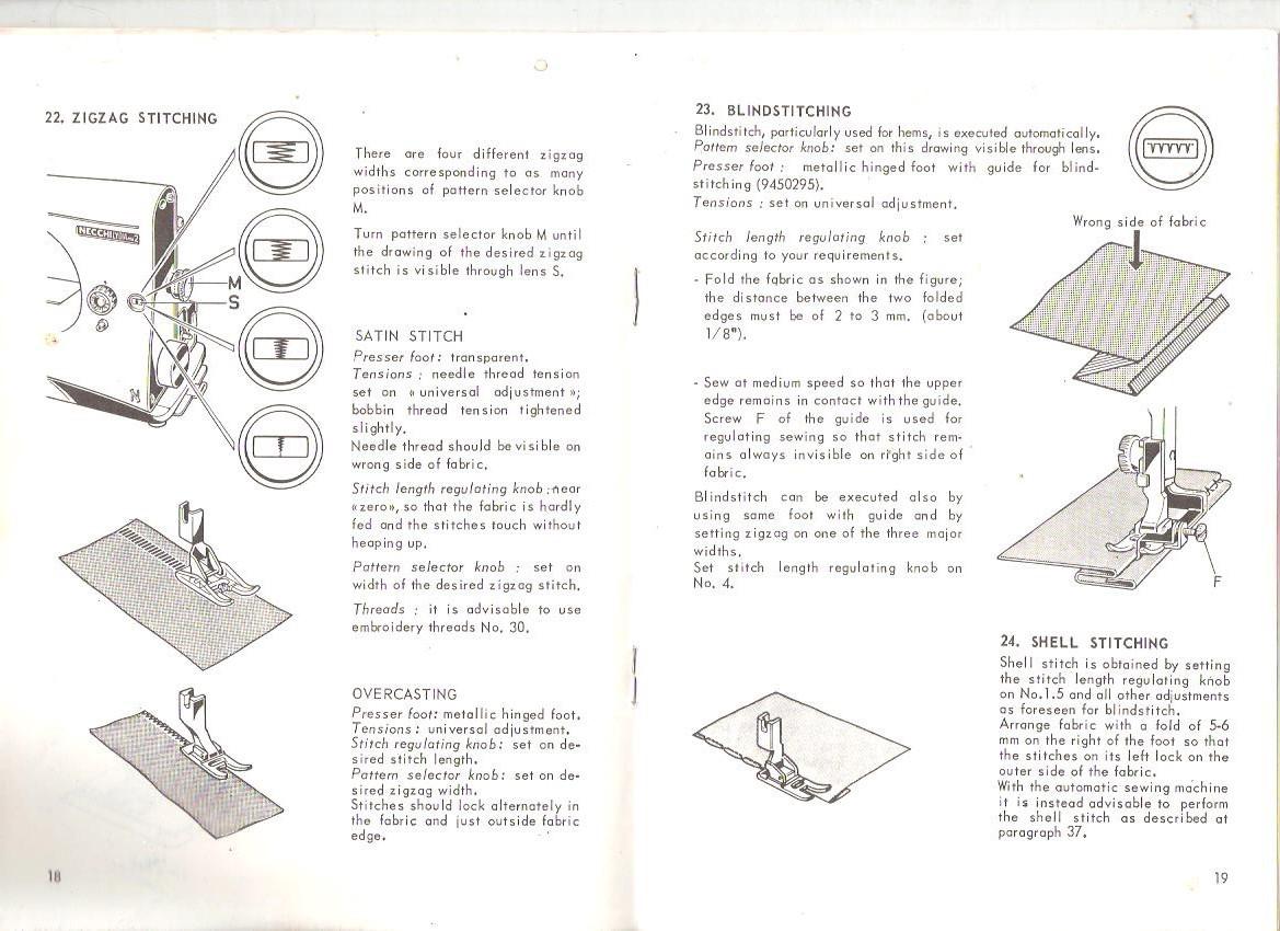 Necchi Lydia Mk2 542 544 Instructions For And 48 Similar Items Supernova Sewing Machine Threading Diagram Vintage Use Maintenance 32 Pg Booklet