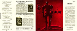 Asimov I, ROBOT facsimile dust jacket for the first edition book - $21.56