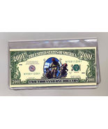2001 Tribute to Fire Fighters Two Thousand Dollar Checkbook Cover - $5.00