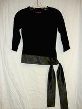 Black Vintage Jersey Top with Satin side Sash size Sm.  - $10.00