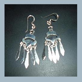 Ss bell   star chandelier fish hook earrings 2