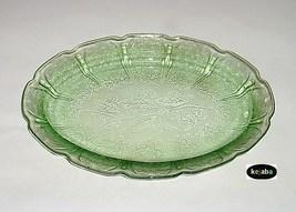 Cherry Blossom Green Platter 11 in. Oval Jeannette - $39.95