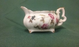 Lovely Vintage Demitasse Creamer Pitcher with Roses & Gold Trim 1940s - $11.19
