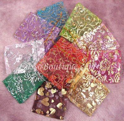 Iridescent Floral Handbag Holder Purse Hook Flower free organza bag