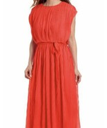 LOTUS By Lotus THREADS NEW YOR size 10 Corral Pleated Chiffon Maxi Dress... - $23.10