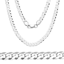 4.5mm Solid 925 Sterling Silver Cuban Curb Link Italy Italian Men Chain Necklace - $45.52+