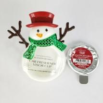 Snowman Scentportable Spiced Cider Scent Disc Bath Body Works Winter Ret... - $15.95