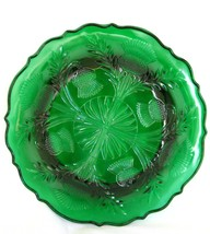 Hunter Green Inverted Thistle Candy Candle Dish Home Decor  image 2