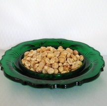 Hunter Green Inverted Thistle Candy Candle Dish Home Decor  image 3