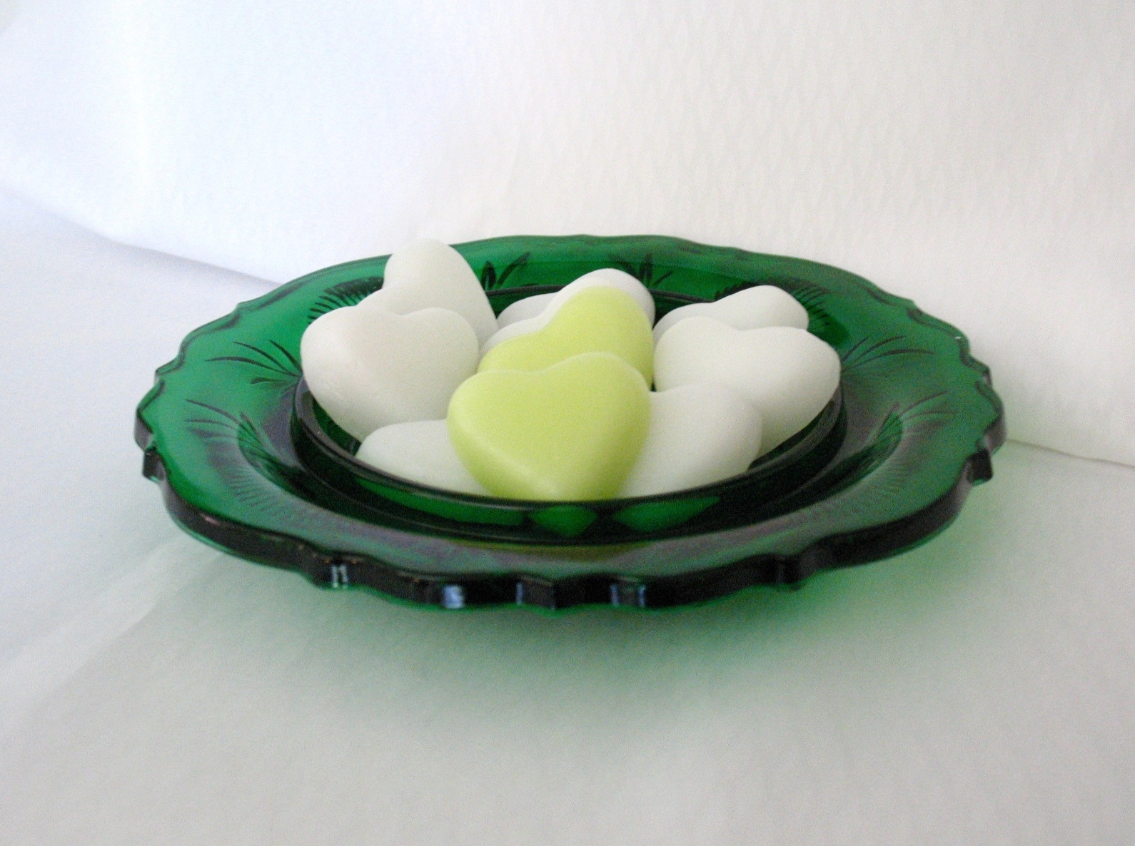 Hunter Green Inverted Thistle Candy Candle Dish Home Decor  image 4