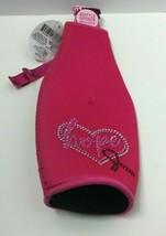 """Novelty Breast Cancer Pink """"Hope""""Printed Neoprene Bottle Insulator+Bottl... - $11.63"""