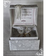 Wedding Blessing box rings & Doves poem keepsake gift - $23.93
