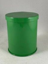 """Vintage Retro Green Metal Tin Kitchen Canister Box  3.5""""H x 3""""D  W. Germany - $9.50"""