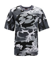 Men's Made in USA Crewneck Camo 100% Cotton Shirt Lightweight Army T-shirt image 5