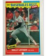 1987 Fleer Baseball's Best Sluggers vs Pitchers #22 Wally Joyner Basebal... - $3.05
