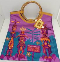 Walt Disney Enchanted Tiki Room Tote Bag 50th Anniversary Bamboo Theme Parks - $69.95