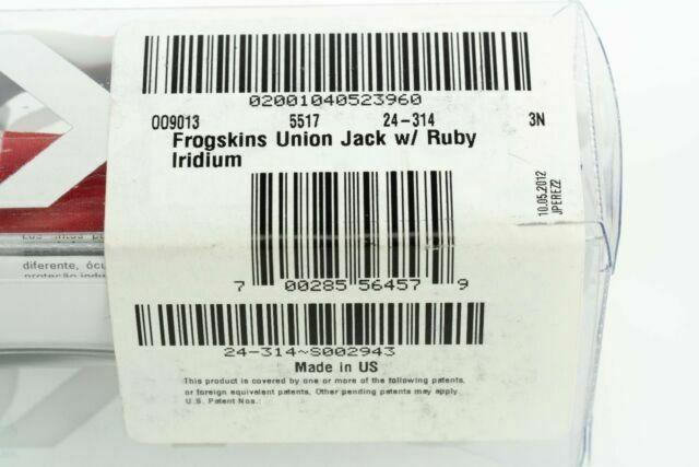 Oakley FROGSKINS Rare Limited Edition England Union Jack w/Ruby Iridium 24-314