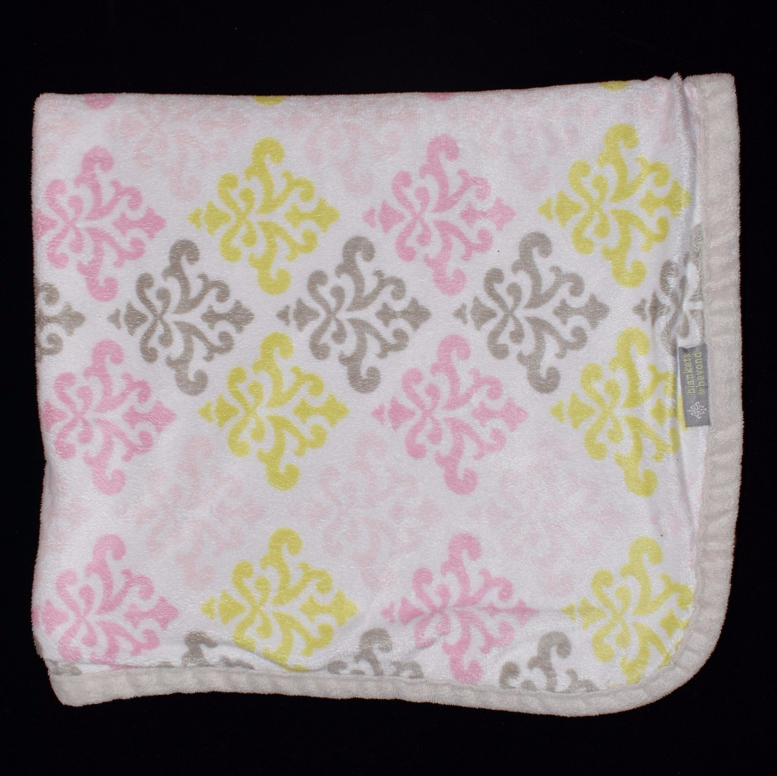 Blankets And Beyond Pink Grey Lime Green And 50 Similar Items