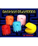 "3D Printed Pac-Man Planter Set - By 3D Cauldron (Full Set 5"") Full Set 5"" - $64.97"