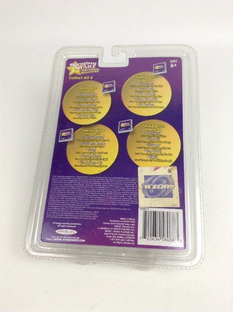Singing Starz Video Karaoke Machine Cartridge Volume 3 New Jakks Pacific