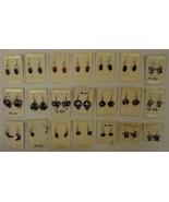 Abalone Shell Inlay Hook Earrings Qty 21 Sterli... - $35.72
