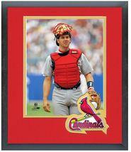 Tom Pagnozzi St.Louis Cardinals Circa 1996-11 x 14 Team Logo Matted/Framed Photo - $43.55