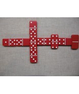 dominoes new Red Double 6 Dominos Thick Tiles P... - $24.95