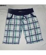 Mod Modele Sz 1X Blue Plaid Bermuda Shorts - $9.99
