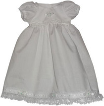 Preemie & Newborn Girls White Lace with Rosettes Christening Baptism - $30.00