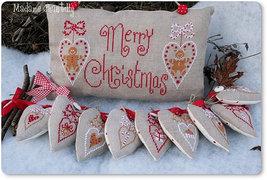 Merry Christmas cross stitch chart Madame Chantilly - $12.60