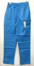 Dickies 850506 Malibu Blue Small Elastic Waist Medical Scrub Pants Botto... - $19.57