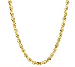 5MM Rope Chain, 24K Gold with Inlaid Bronze Premium Fashion to - $188.57