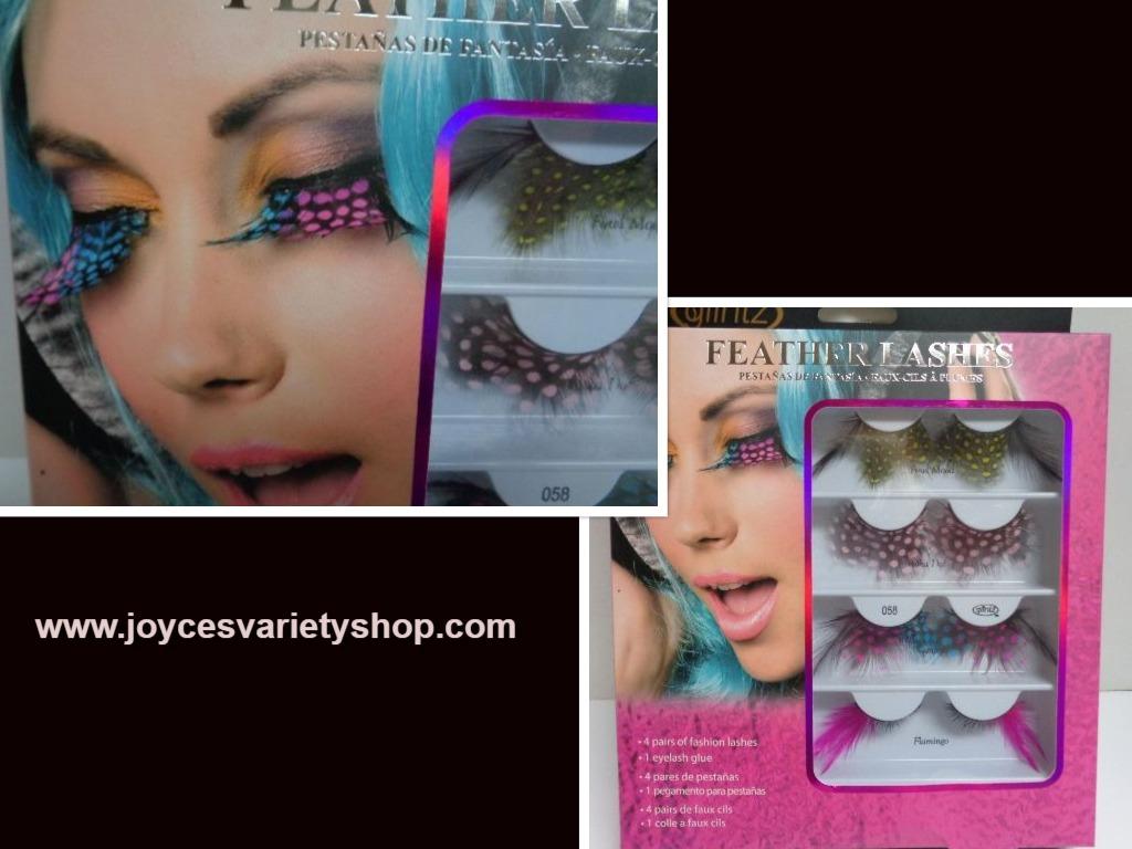 Eyelashes feather web collage