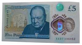 Bank Of England New Polymer £5 Five Pounds ** AA37 Note ** - $1,018.85