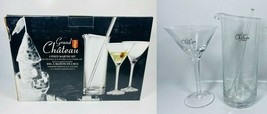 Grand Chateau Martini Glass and Pitcher - 3 Piece Set - $59.39