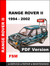 RANGE ROVER II P38A 1994 - 2002 FACTORY SERVICE REPAIR WORKSHOP MANUAL - $14.95