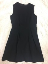 Zara Basic Women's Dress Size L Black Sleeveless Pleated A-line Career - $22.76