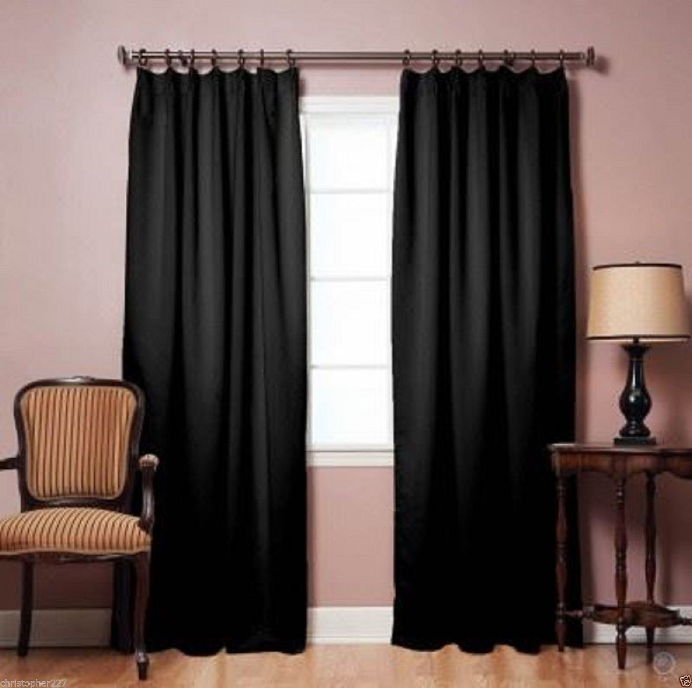 Home Blackout Windows Curtains Insulated Treatments Patio