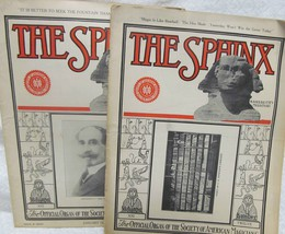 The Sphinx 1923 January & February - $44.10