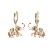 Xuping Jewelry Good Lucky Elephant Animal Hoop Earrings with Box Women G... - $72.64