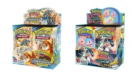 Pokemon TCG Sun & Moon Cosmic Eclipse + Unbroken Bonds Booster Box Bundle - $214.95